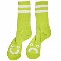 POLAR SKATE CO HAPPY SAD SOCKS LIME