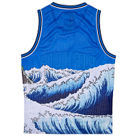 RIPNDIP GREAT WAVE MESH BASKETBALL JERSEY BLUE