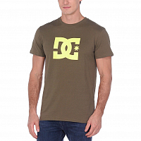 DC STAR SS 2 M TEES FATIGUE GREEN/SAFETY YELLOW