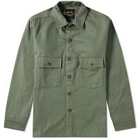 STAN RAY CPO SHIRT OLIVE SATEEN