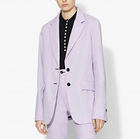 Proenza Schouler White Label Suiting Unconstructed Blazer Lilac