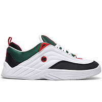 DC WILLIAMS SLIM M SHOE WHITE/BLACK/ATHLETIC RED