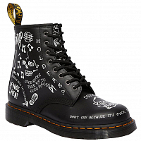 DR.MARTENS 1460 SCRIBBLE - 8 EYE BOOT BLACK