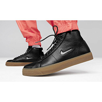 Nike SB ZOOM BLAZER MID PRM BLACK/WHITE-BLACK-GUM LIGHT BROWN