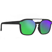 Majesty WIRE matt black with green emerald lenses