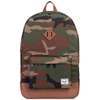 Herschel Heritage WOODLAND CAMO/TAN SYNTHETIC LEATHER