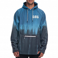 686 WATERPROOF HOODY BLUE STEEL TIE DYE