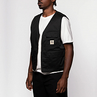 STUSSY INSULATED WORK VEST BLACK