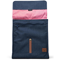 Herschel CITY MID-VOLUME INDIGO DENIM CROSSHATCH