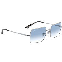 Ray Ban Rectangle SILVER/CLEAR GRADIENT BLUE