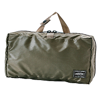 PORTER YOSHIDA SNACK PACK COSME POUCH Olive Drab