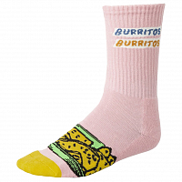 RVCA HOT FUDGE CREW SOCK PINK