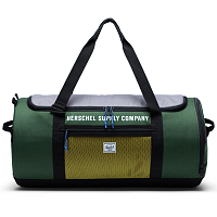 Herschel SUTTON CARRYALL GREENER PASTURES/GREY/CYBER YELLOW