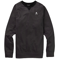 Burton M CROWN BNDD CREW TRUE BLACK HEATHER