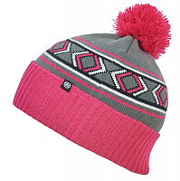 686 GIRLS CHALET POM BEANIE LILAC ROSE