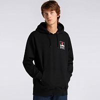EDWIN Sunset ON MT. Fuji Hoodie Sweat BLACK (GARMENT WASH)