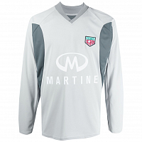 MARTINE ROSE Revels Shirt LIGHT GREY/DARK GREY