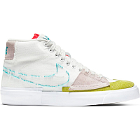 Nike SB ZOOM BLAZER MID EDGE SUMMIT WHITE/ORACLE AQUA-SUMMIT WHITE