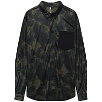 Mystic Shred Blouse L/S Quickdry BRAVE GREEN