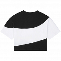 Converse CONVERSE WOMENS RIVALRY C&S OS CROP TEE CONVERSE BLACK MULTI