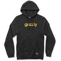 Grizzly LOWERCASE FADEAWAY HOODIE BLACK