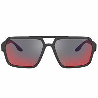 Prada Linea Rossa 0PS 01XS BLACK RUBBER/DARK GREY MIRROR BLUE/RED