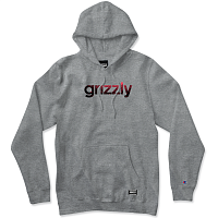 Grizzly LOWERCASE FADEAWAY HOODIE HEATHER GREY