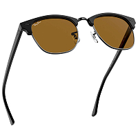 Ray Ban CLUBMASTER MATTE BLACK/BROWN